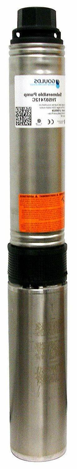 "Goulds 10HS05422C 4"" Submersible Water Well Pump, 1/2HP, 230"