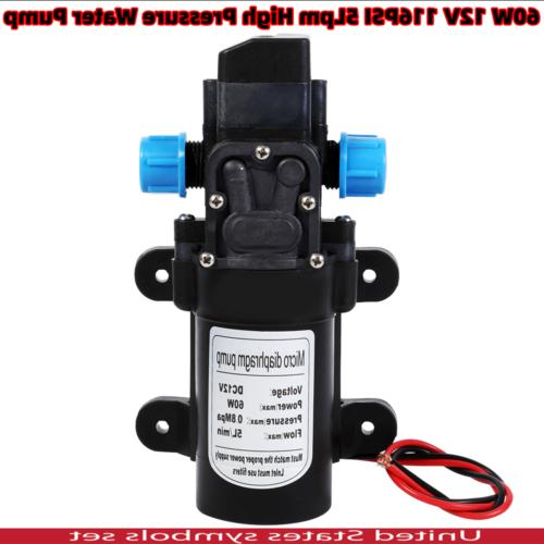 12v 116psi water pump high pressure 5lpm