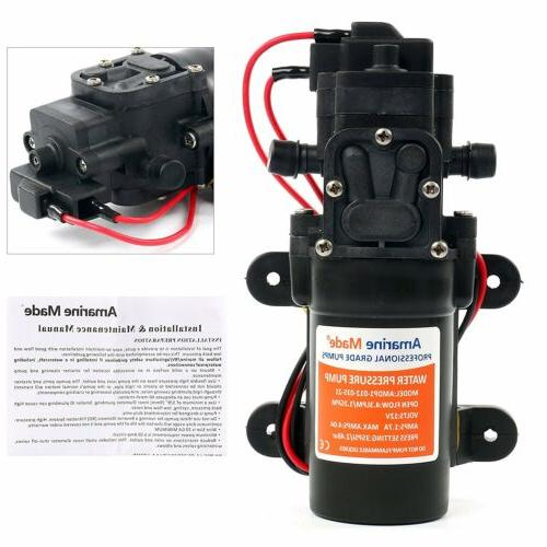 35PSI DC 12V 1.2 GPM Automatic Diaphragm Water Self Priming