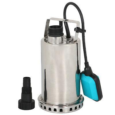 1HP Stainless Steel Submersible Pump 3000GPH Sump Dirty Clea