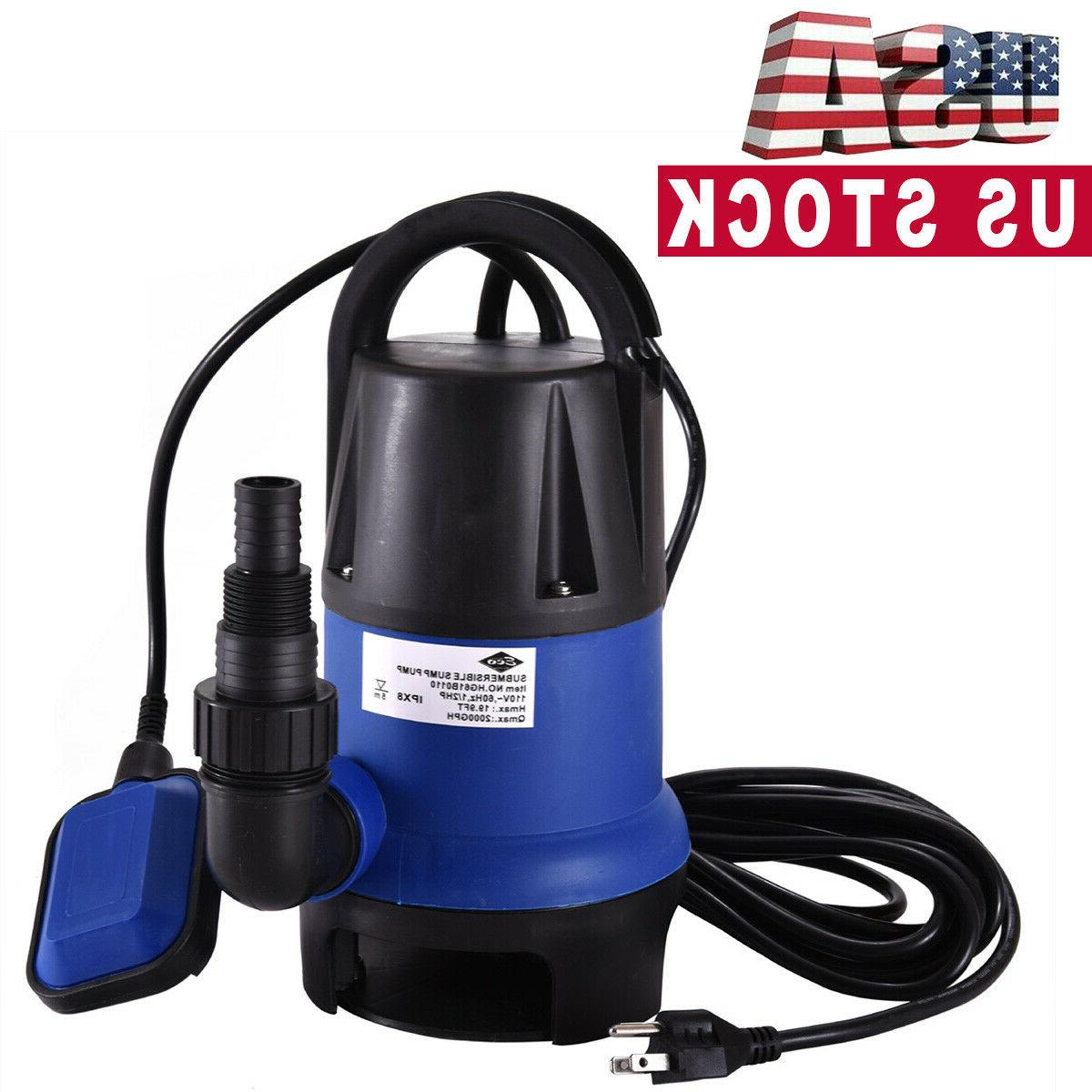 2000 gph submersible clean dirty water pump