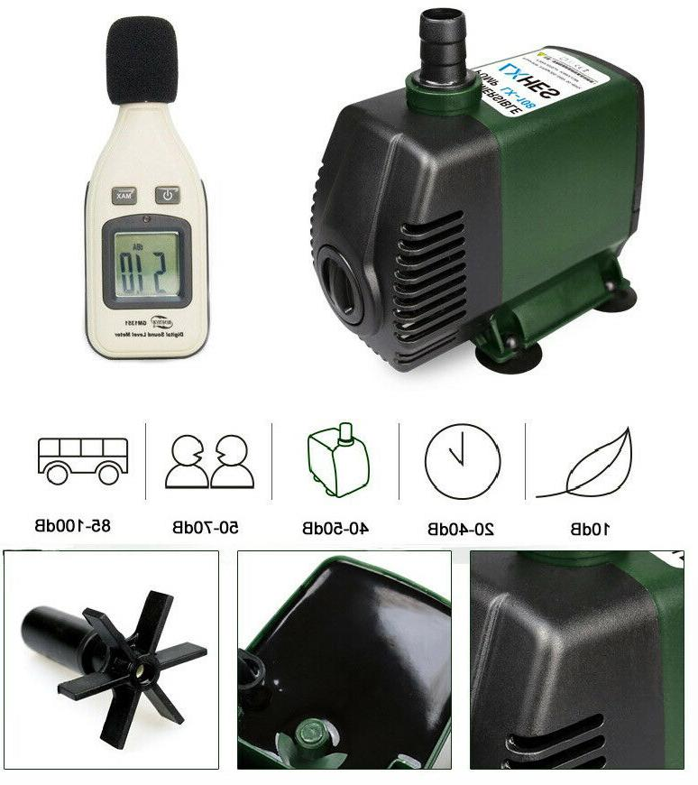 220V Submersible Water 3-65W Tank
