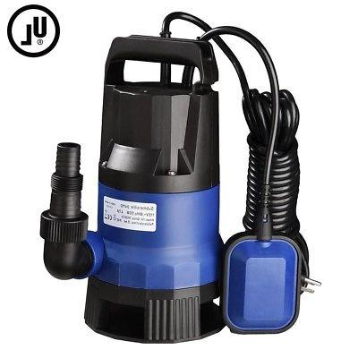 3/4 HP 2640GPH 550W Submersible Swimming Pool Dirty Pond