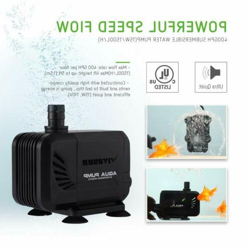 VIVOSUN 3000L Water for Fish Aquarium