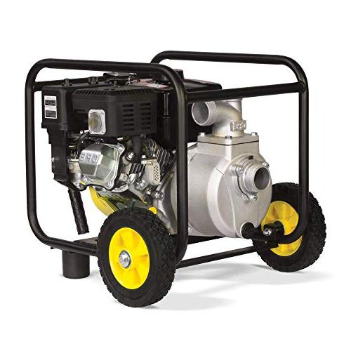 Champion Gas-Powered Semi-Trash Water Pump with Hose Wheel Kit