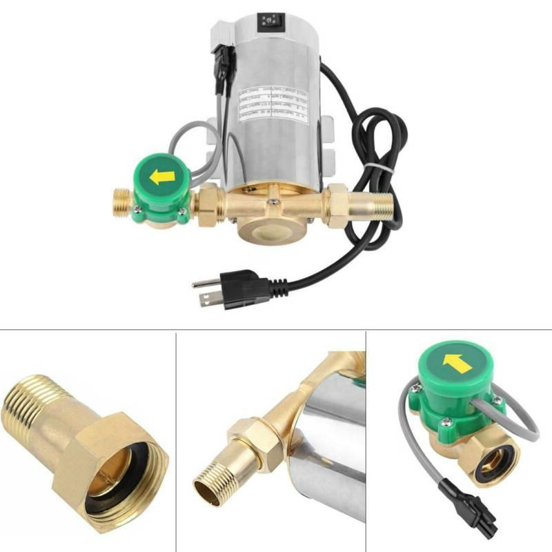 90W Stainless Domestic Shower Steel Pressure Water Booster P
