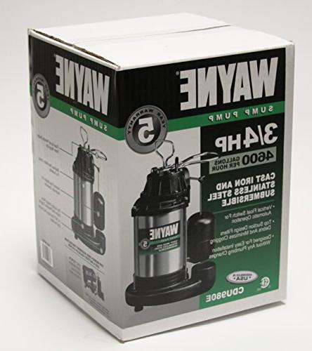 WAYNE HP Submersible Cast Stainless With Integrated Vertical Switch
