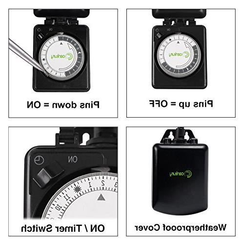 Century Outdoor 24 Hour Outlet Timer-Plug Heavy
