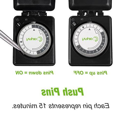 Century Compact Mechanical 24 Outlet Timer-Plug in, Heavy Duty