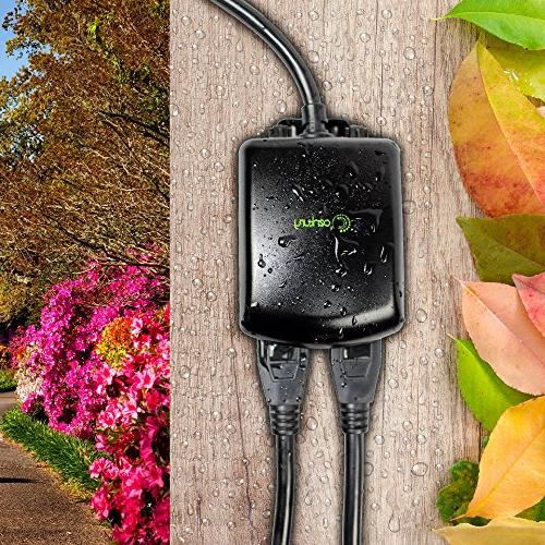 Century Compact Outdoor Mechanical 24 Outlet Timer-Plug Waterproof, Heavy Duty