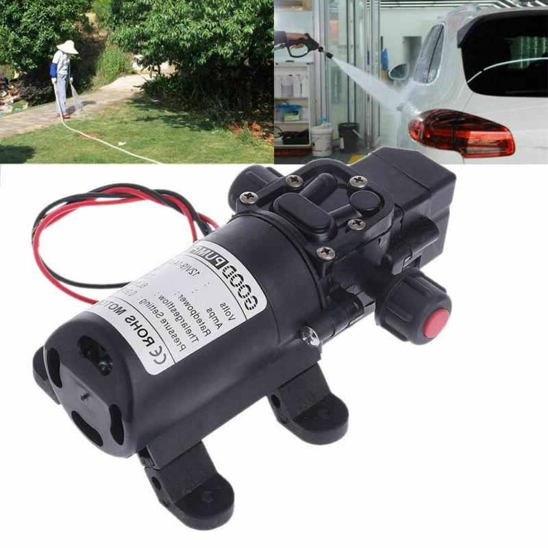 DC 12V 130PSI 6L/Min Water High Self Priming