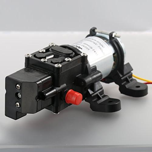 bayite 12V Fresh Water Diaphragm with Clamps Priming Pressure Switch 1.0 GPM 80 for Boat