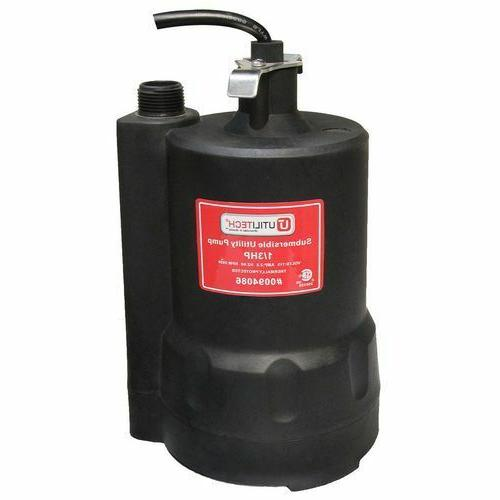 New Durable Utilitech 0.33 HP Thermoplastic Submersible Util