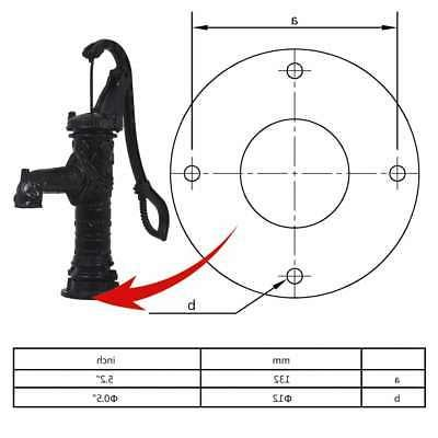 vidaXL Garden Pump with Stand Outdoor Hand Hardware