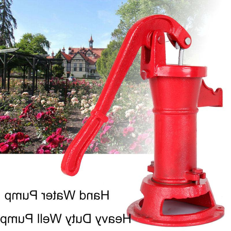 Hand Water Shallow Well Pump Pitcher Cast Iron Press Suction