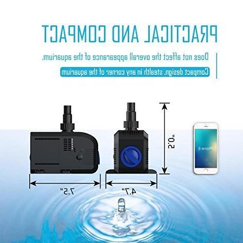 SongJoy Submersible Water for Outdoor Pond with 8.2ft