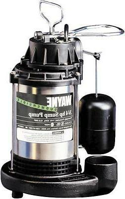 NEW WAYNE CDU980E SUBMERSIBLE CAST IRON STAINLESS 3/4HP WATE