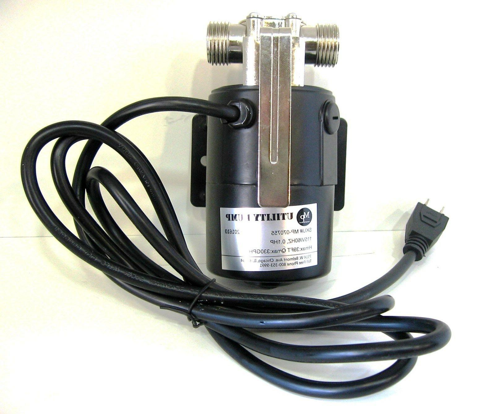Portable Water Transfer Pump 330 115-Volt with Metal Connectors