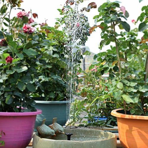 ROADTEC Fountain Pump for 1.8W Powered Kit Patio, Garden and