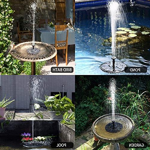 Solar Fountain Standing 2018 Powered Pumps Small Swimming Garden, Patio