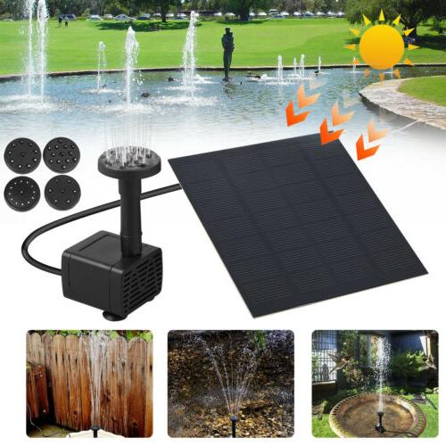 Solar Power Fountain Garden Pool