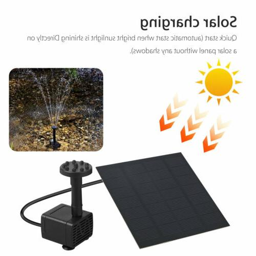 Solar Power Water Panel Fountain Pump Pool Submersible