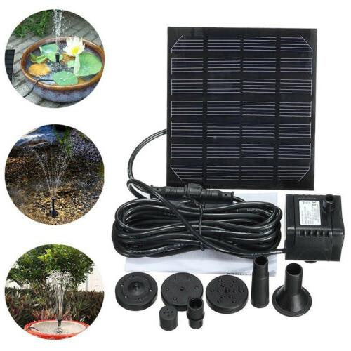 Solar Water Pump Garden Yard Pond Bath