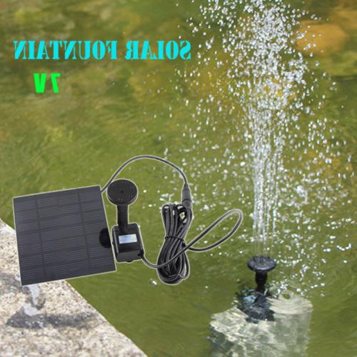 solar powered water pump garden yard fountain