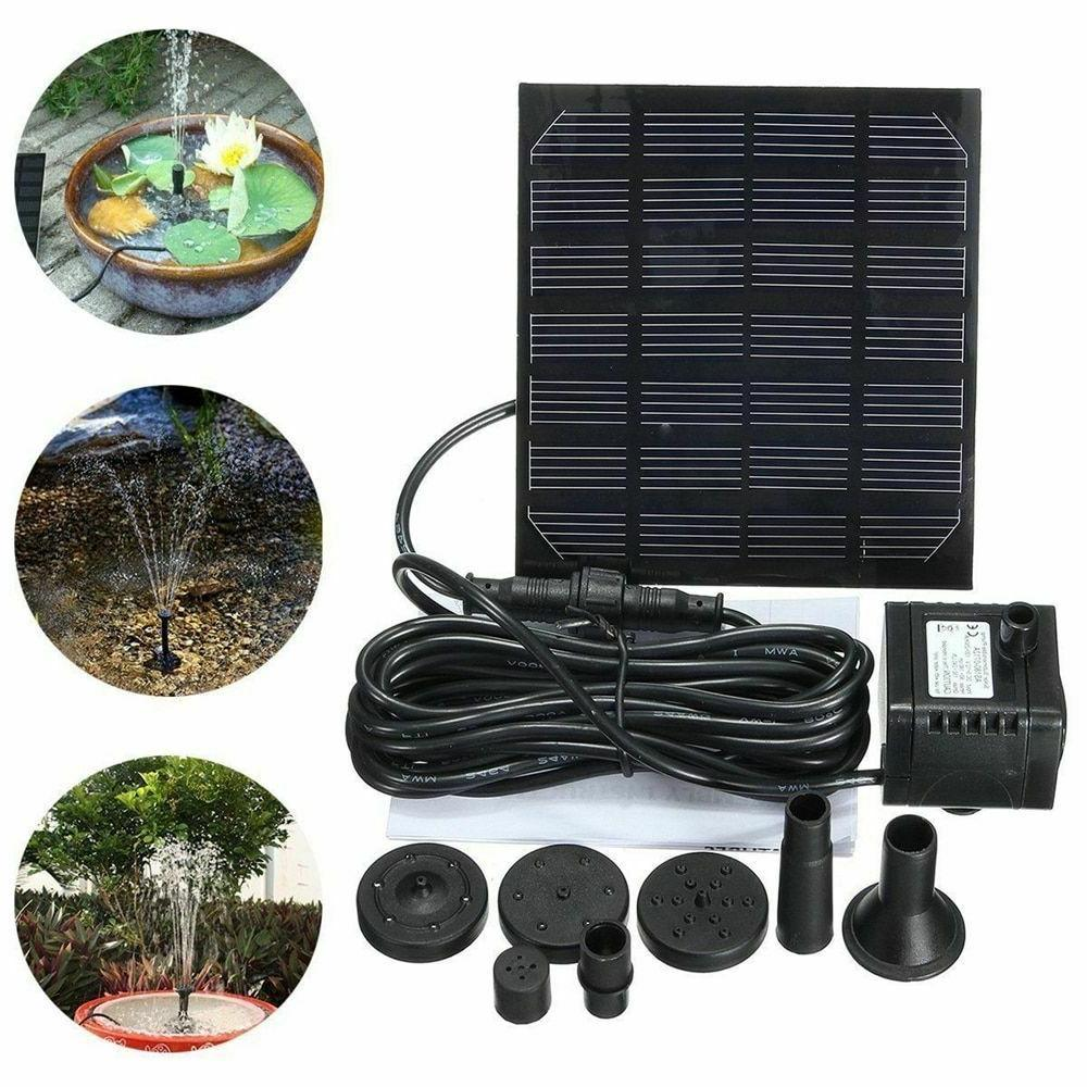 Solar Waterfall Garden Water Pump Power Solar Fountain Outdo