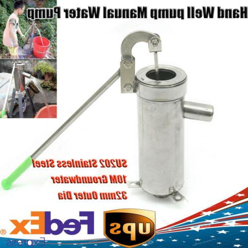 stainless steel manual water pump domestic well