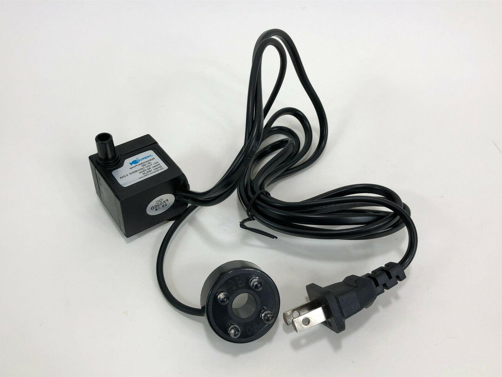 submersible fountain water pump with led light