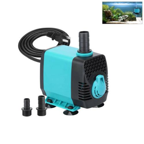 Submersible Water Pump 130L/H with 12 LED Lights for Fountai