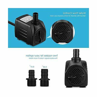Homasy 400GPH Submersible 25W with For... Free Shipping