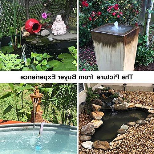 KEDSUM Submersible Ultra Quiet Water with 5ft High Fountain Pump with Power for Fish Aquarium,