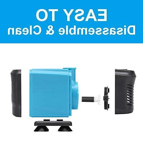 KEDSUM 550GPH Ultra Quiet Water Pump with Lift, Fountain Power Cord, 3 for Pond, Aquarium, Statuary,
