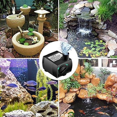 Water Pump, Ultra Quiet For Pond, Tank Powerful Pump with Cord