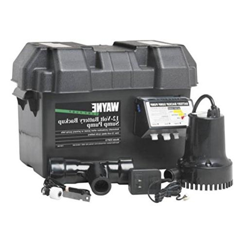 Sump Pump System Battery Back Up 12 V Corrosion Resistant 17