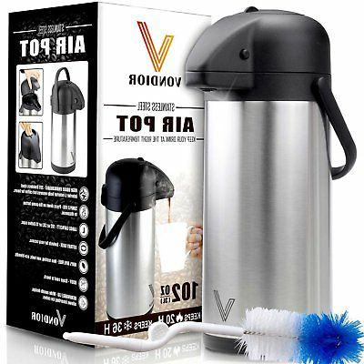 thermal airpot beverage dispenser stainless