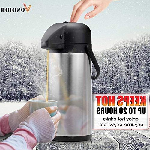Thermal Beverage Dispenser - For Pump Party Thermos Carafe, Bunn Lid