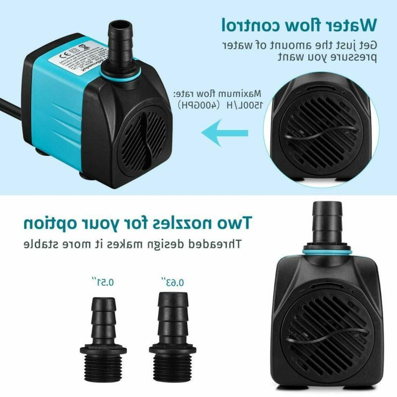 Homasy Upgraded Submersible Pump 25W Fountain With