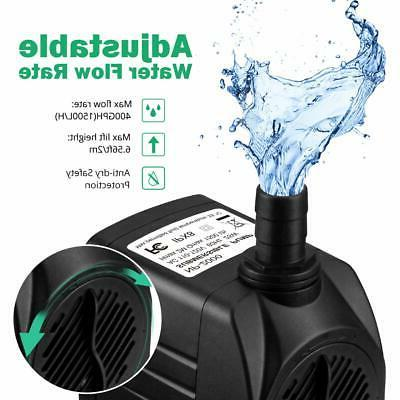 Homasy 400GPH Submersible Water Pump Hours