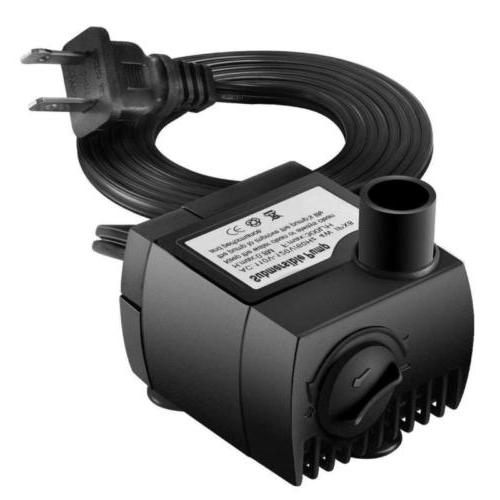 upgraded 80 gph 300l h 4w submersible
