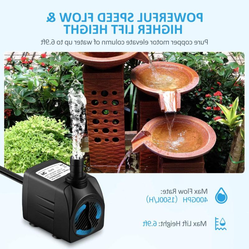 WATER Submersible for Pond Fountain Tank Statuary