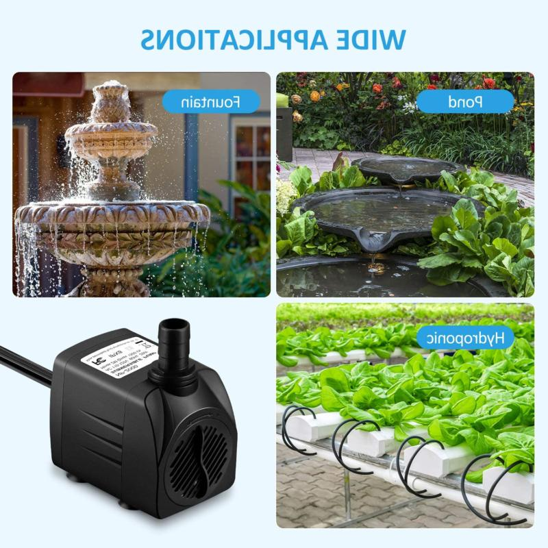 WATER Submersible for Pond Fountain Aquariums