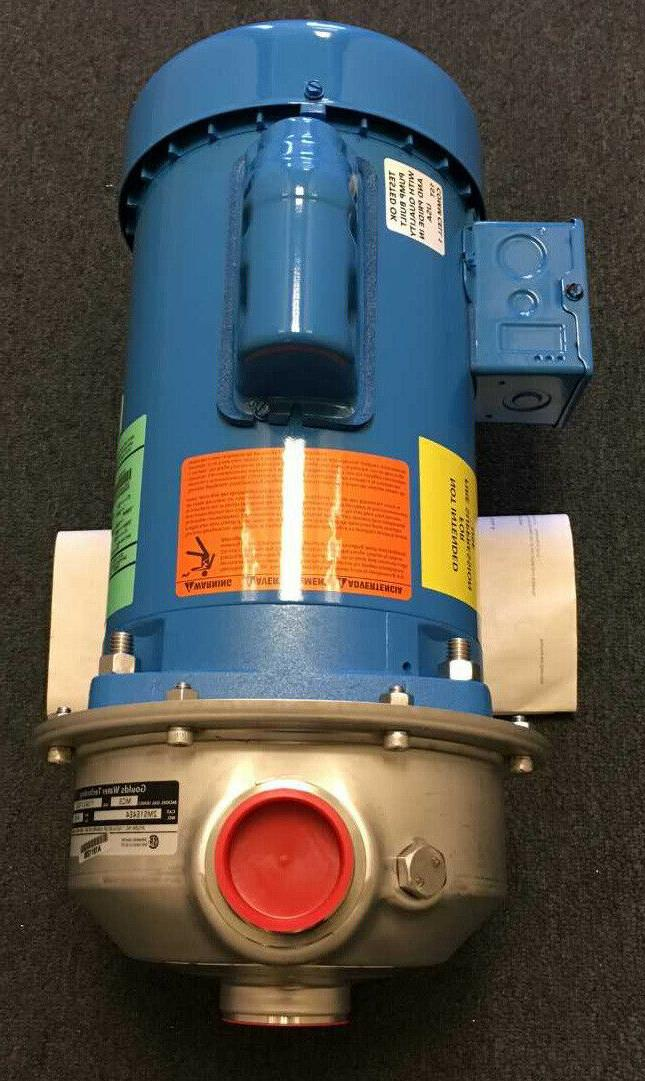 GOULDS WATER TECHNOLOGY 2MS1E4E4 DISCHARGE 1-PHASE, 4UB76, NEW!