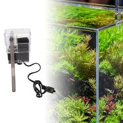 mini aquarium power filter waterfall water pump fish tank ha