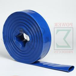 """New 2"""" Inch X 50' Ft Feet Agricultural PVC Lay Flat Discharg"""