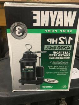 NEW WAYNE CDU800 SUBMERSIBLE CAST IRON USA MADE 1/2 HP WATER