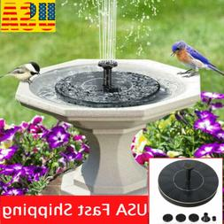 New Solar Powered Floating Bird Bath Water Panel Fountain Pu