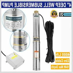 New Submersible Deep Well Water Pump Stainless Steel 3/4 0.7